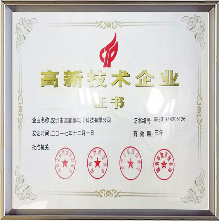 bctiyugaoxinji术企业证书
