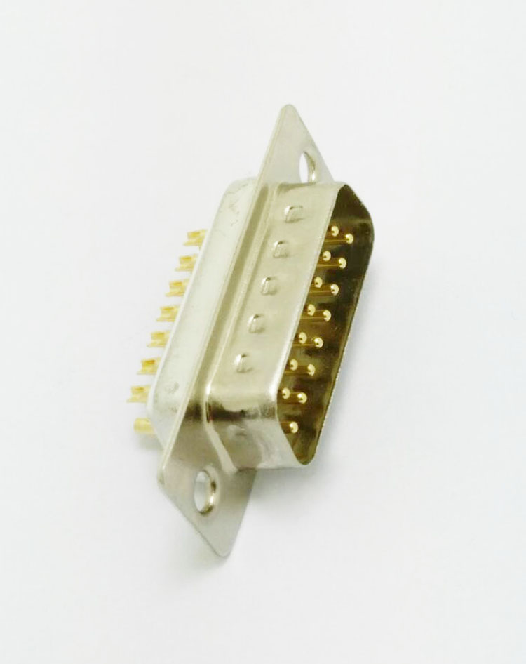 DB-15P(gong头)焊线式che针白胶lian接器