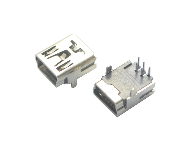 MINI USB 5P 90° B型两脚铜