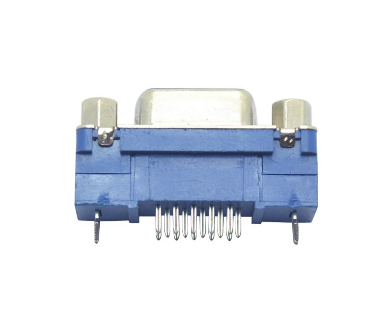 HDC-15P 母头 三排 gao塑胶 侧叉式