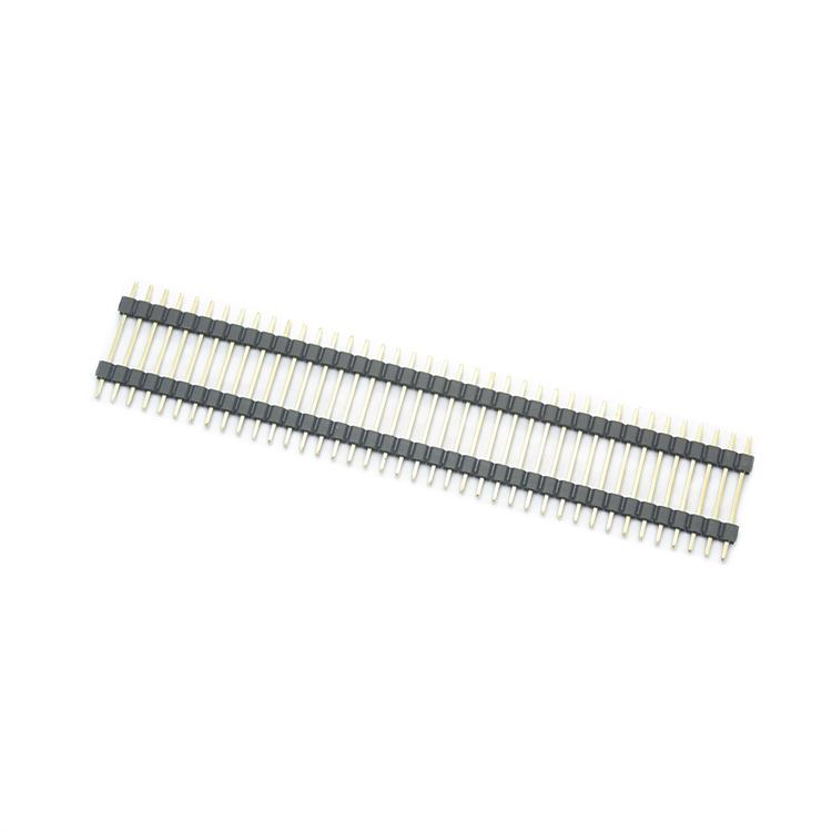 2.54间距单排双塑直插排针L=20mm