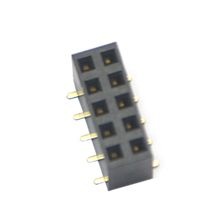 2.54jian距双排SMT塑高8.5 排母