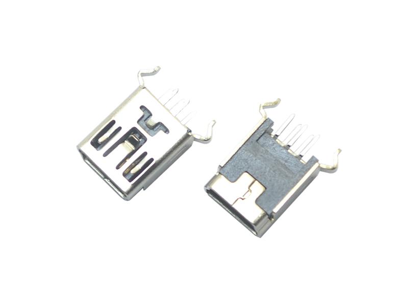MINI USB 5P 180° B型wan脚