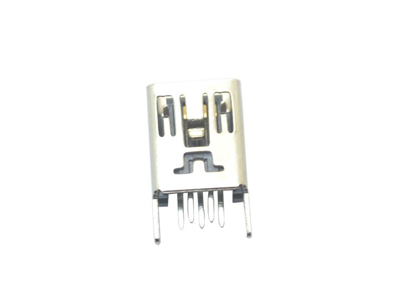 MINI USB 5P 180° B型直脚