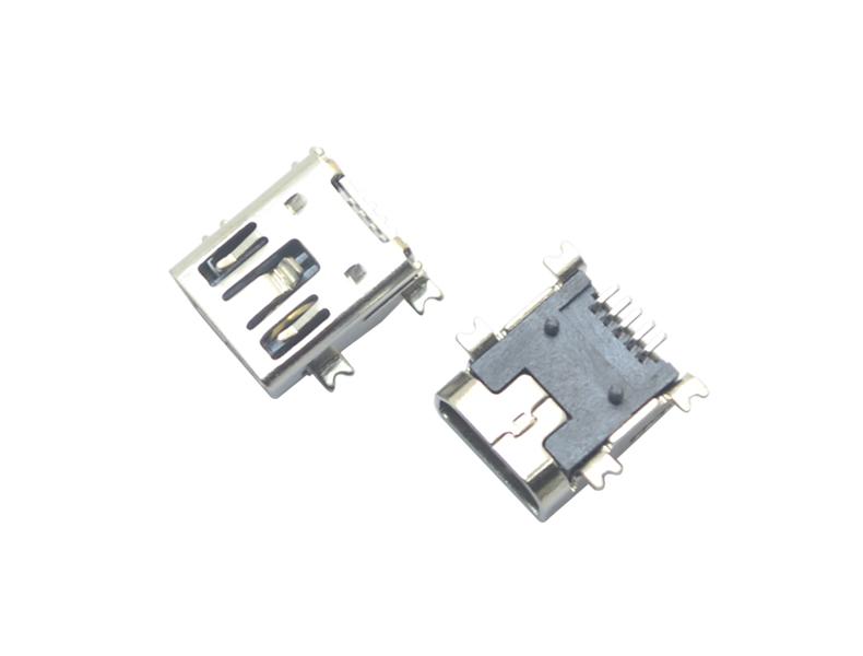 MINI USB 5P SMT AB型双卡点