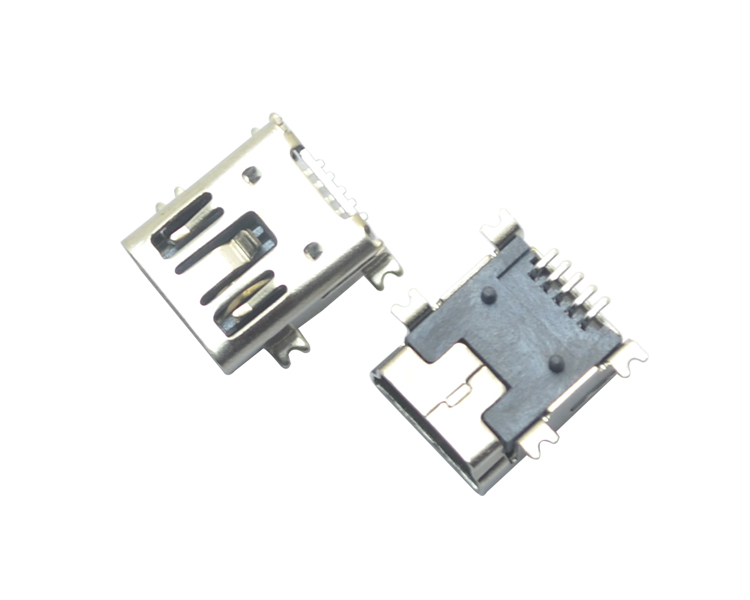 MINI USB 5P SMT B型双卡点