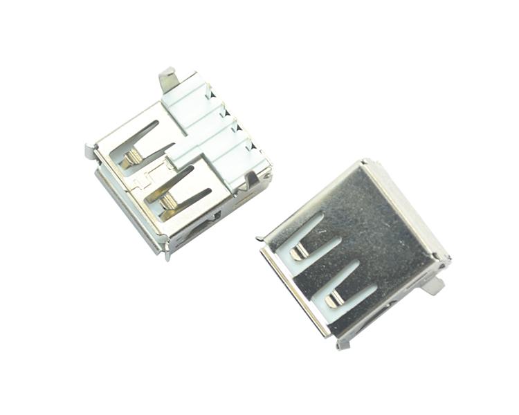 USB AF 4P 90°白铁