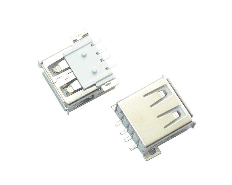 USB AF 4P SMT 全贴白铁