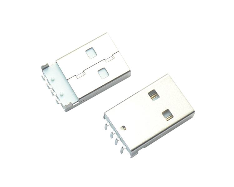 USB AM 4P 90° 白铁
