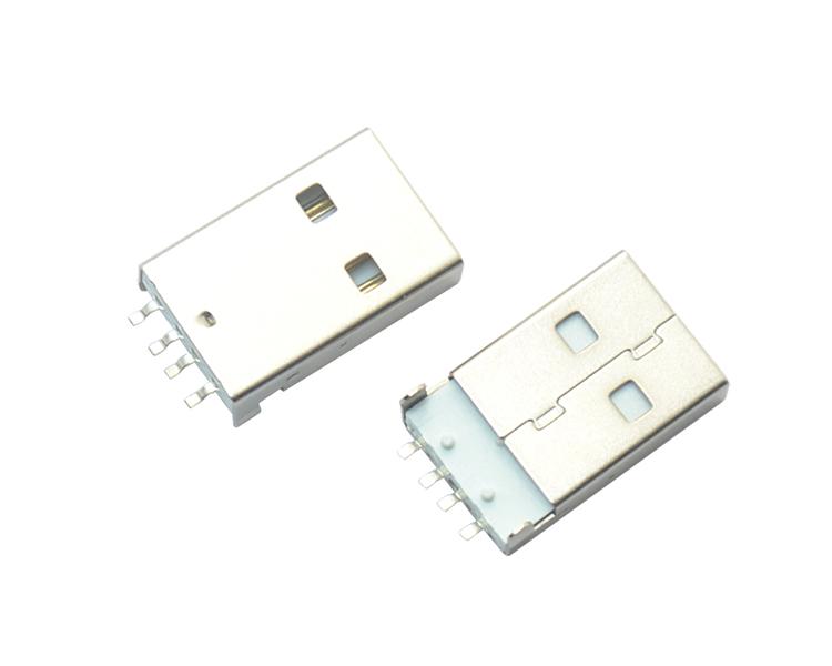 USB AM 4P SMT 白铁