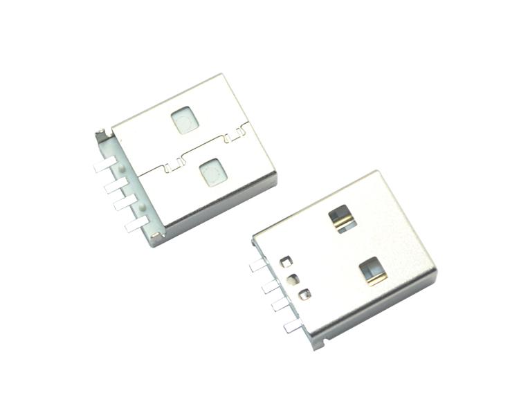 USB AM 4P chen板SMT短ti白铁