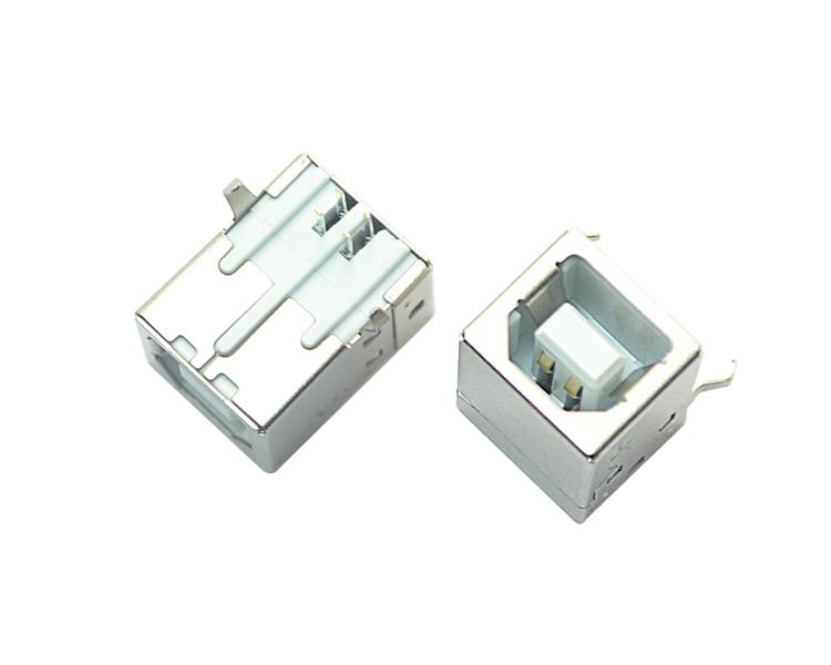 USB BF 4P 90°白铁