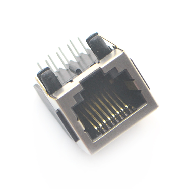 RJ45-8P8C 半bao 带耳 弯插