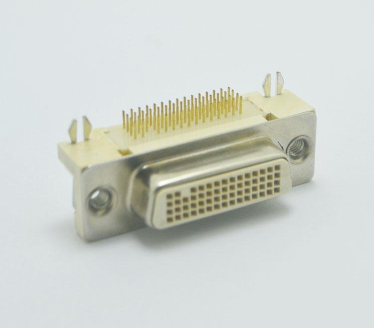 DVI-50PIN 母头90度插ban