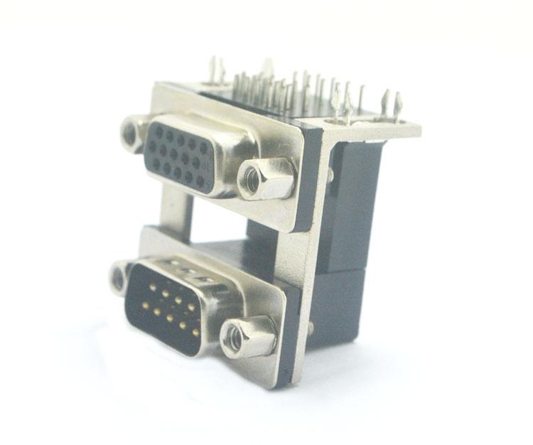 DR9公对HDR15母(5.08)19.05*8.0锁4.8螺丝