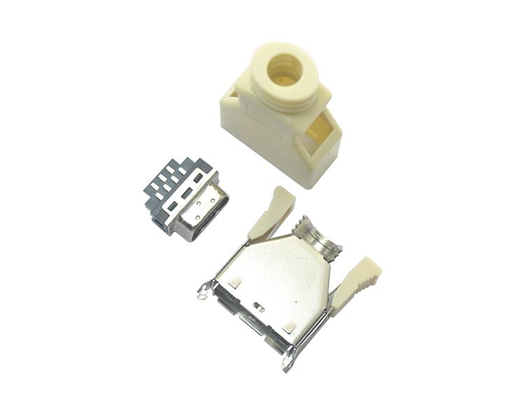 SCSI 14P公头yu钩型焊线式米白色