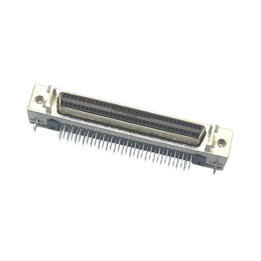 SCSI-68Pmu座90°焊板孔型