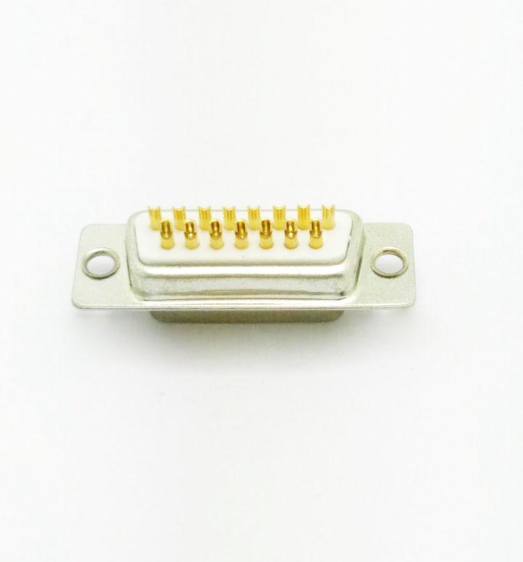 DB-15P(母头)焊线式车针白胶连接器