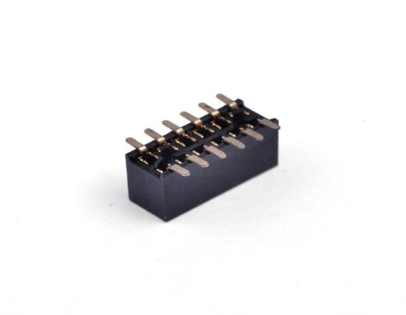 2.54双排贴pian带柱排母连接器