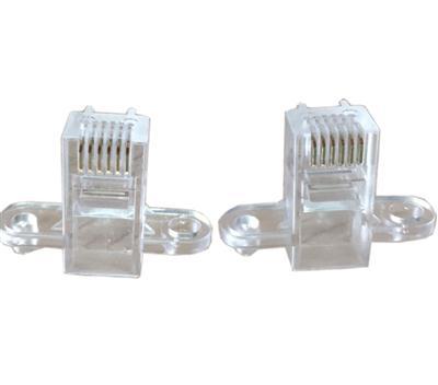 RJ11/RJ45网络水晶头6P6C shuang卡wei